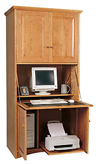 Vertical Computer Work Station Cherry