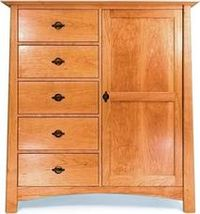 Solid Cherry Chifforobe Sweater Chest
