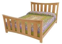 New Wide Slat Bed In Natural Cherry Wood
