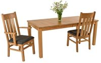A Natural Cherry Parsons Table and Chairs