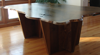 Walnut-slab-table handmade in Vermont