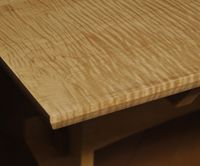 Tiger Maple Dining Table: A Custom Work of Art by Greg Goodman
