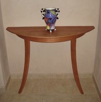 Handmade Half-moon-table