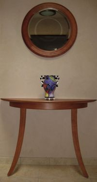 2-leg-half-round-table and matching mirror