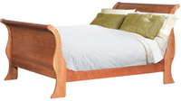 King-size-cherry-sleigh-bed