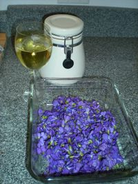 Violets steeping