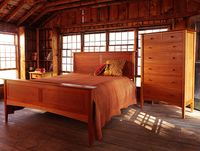 Solid-cherry-wood-bedroom