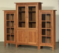 Solid-cherry-wood bookcase