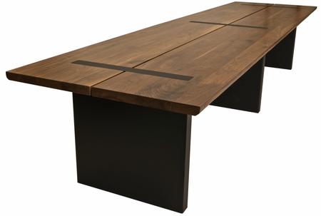 Etonnant A LARGE Custom Walnut Slab Table