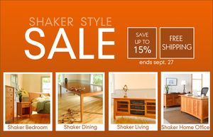 Shaker Style Furniture Almost Fall Sale!