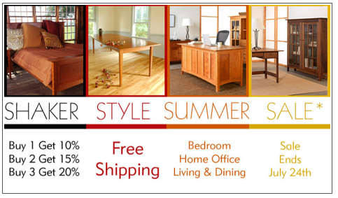 Shaker Style Furniture Summer Sale Is On Vermont Woods Studios